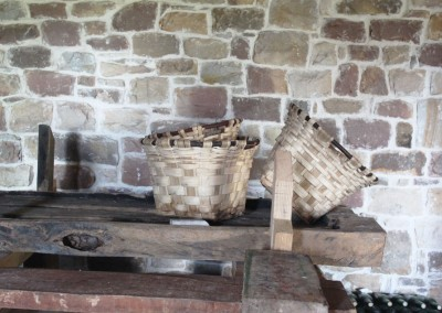 Baskets in the cider mill